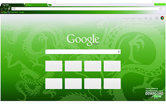 Green Dragon Google Chrome Theme