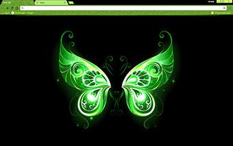 Green Fairy Wings Google Chrome Theme