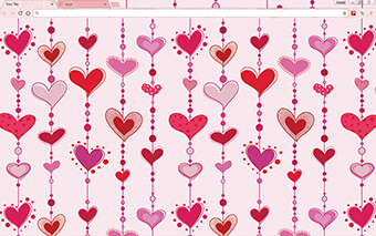 Hearts In Love Google Chrome Theme