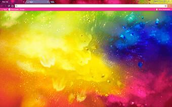 Holi Splash Google Chrome Theme