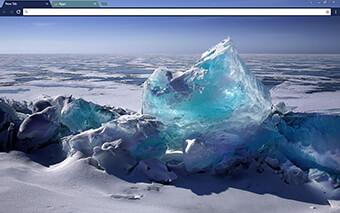 Icy Blue Google Chrome Theme