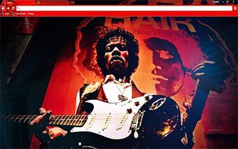 Jimi Hendrix Google Chrome Theme