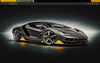Lamborghini Centenario Google Chrome Theme