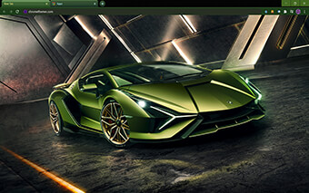 Lamborghini Si?n Google Chrome Theme