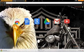 Legendary Harley Davidson Google Chrome Theme