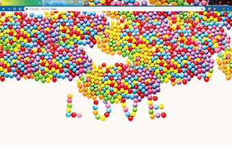 Love Candy Google Chrome Theme