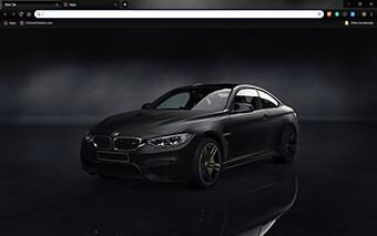 M4 Frozen Black Google Chrome Theme