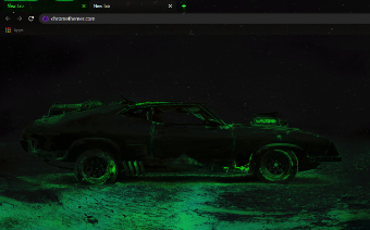 Mad Max's Interceptor - Radioactive Google Chrome Theme