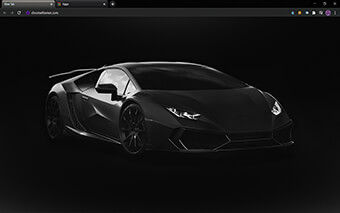Matte Black Lamborghini Google Chrome Theme
