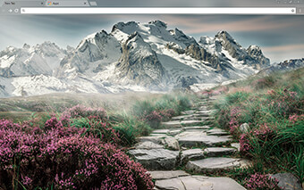 Mountain Landscape Google Chrome Theme