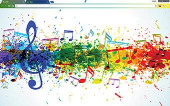 Musical Colors Google Chrome Theme