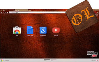 Old Leather Google Chrome Theme