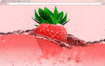 Pink Strawberry Google Chrome Theme