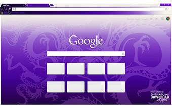 Purple Dragon Google Chrome Theme