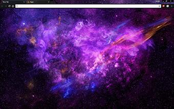 Purple Nebula Google Chrome Theme
