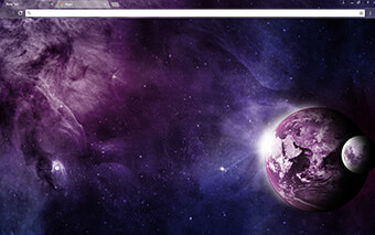 Purple Planet Google Chrome Theme