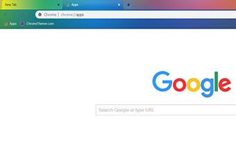 Rainbow Color Tabs Google Chrome Theme