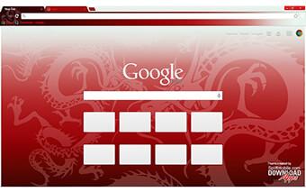 Red Dragon Google Chrome Theme