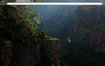 River Mountain Google Chrome Theme