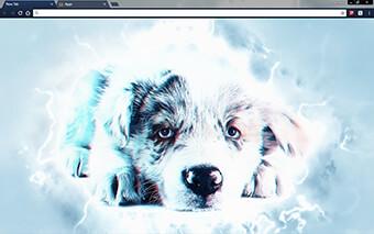 Sad Blue Puppy Google Chrome Theme
