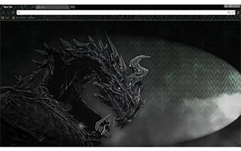 Skyrim Alduin Google Chrome Theme