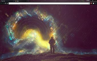 Space Cosmonaut Google Chrome Theme
