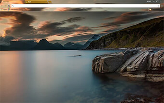 Sunset Lake Google Chrome Theme
