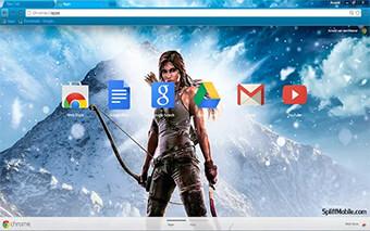 Tomb Raider Google Chrome Theme
