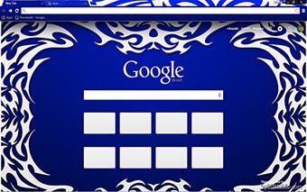 Tribal Blue Google Chrome Theme