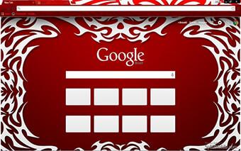 Tribal Red Google Chrome Theme
