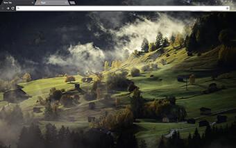 Valley Landscape Google Chrome Theme