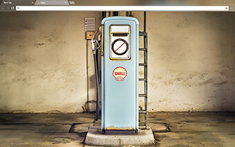 Vintage Gas Pump Google Chrome Theme