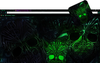 Voodoo Skulls Google Chrome Theme