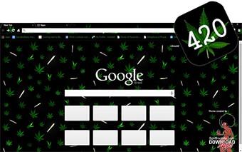 Weed 420 Google Chrome Theme