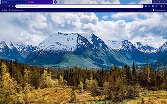 White Mountain Top Google Chrome Theme