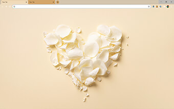 White Rose Petals Google Chrome Theme