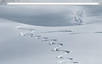 Winter Tracks Google Chrome Theme