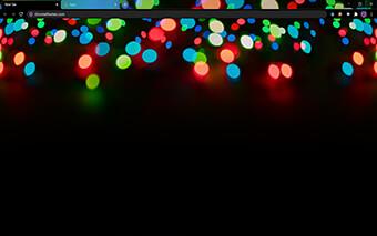 Xmas Lights Google Chrome Theme