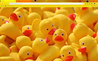 Yellow Ducks Google Chrome Theme