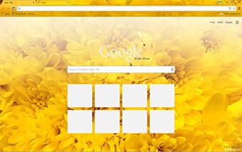 Yellow Flowers Google Chrome Theme