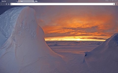 Arctic Ocean Google Chrome Theme