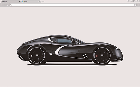 Black Bugatti Google Chrome Theme