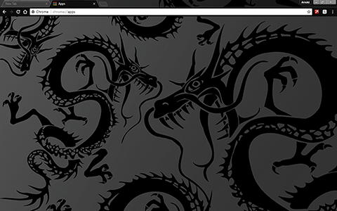 Black Dragon Google Chrome Theme