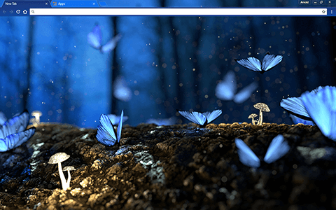 Blue Butterflies Google Chrome Theme