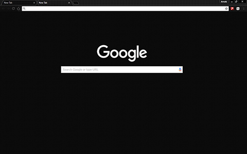 Carbon BlackOut Google Chrome Theme