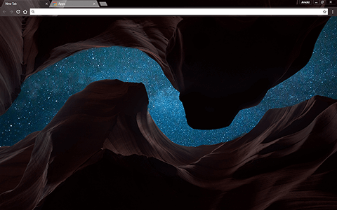 Cosmic Canyon Google Chrome Theme