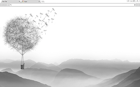 Dandelion Valley Google Chrome Theme