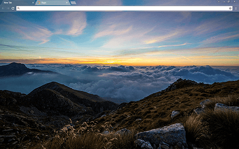 Dawn Mountain Google Chrome Theme