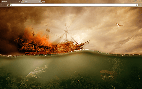 Flying Dutchman Google Chrome Theme