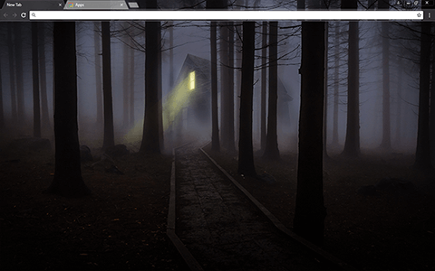 Foggy Night Google Chrome Theme